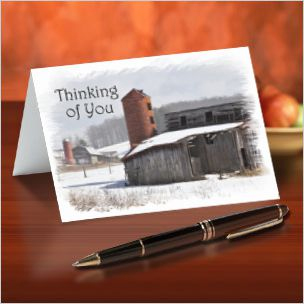 Old Barns Note Cards
